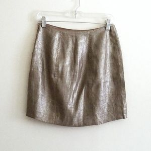 Elie Tahari Metallic Mini Skirt Sz 2